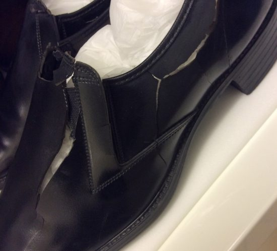 Black plastic shoes T.563:11 and 12-1997
